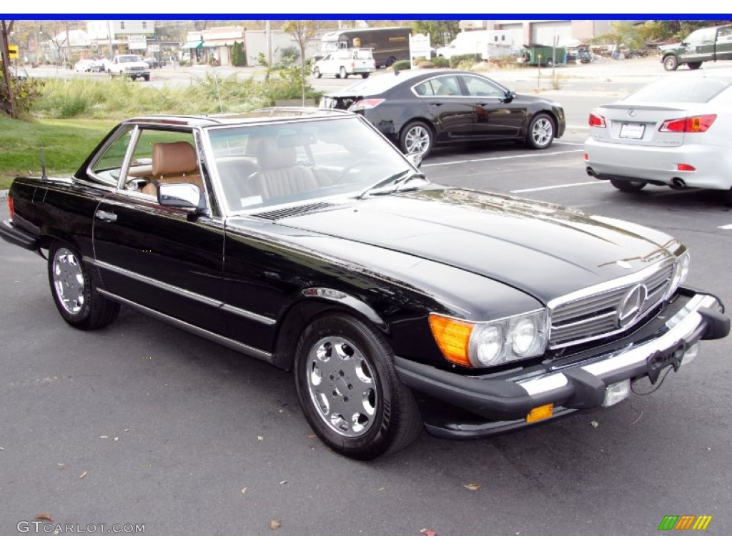Black 1986 mercedes benz sl class 560 sl roadster exterior for Mercedes benz sl roadster