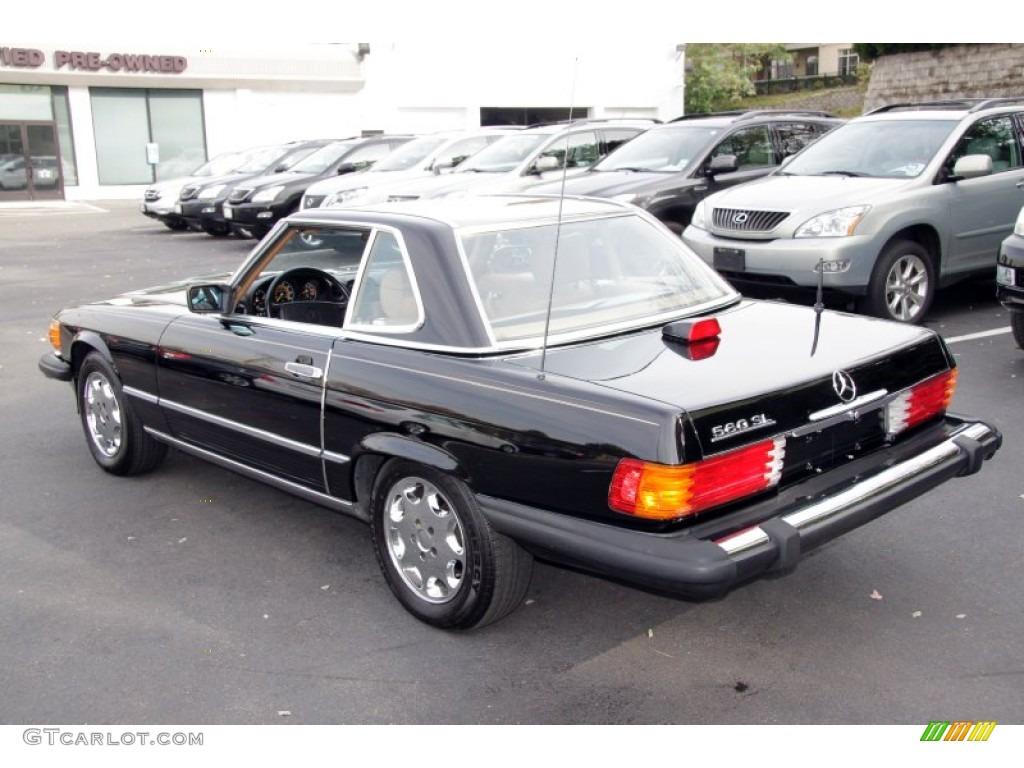 black 1986 mercedes benz sl class 560 sl roadster exterior
