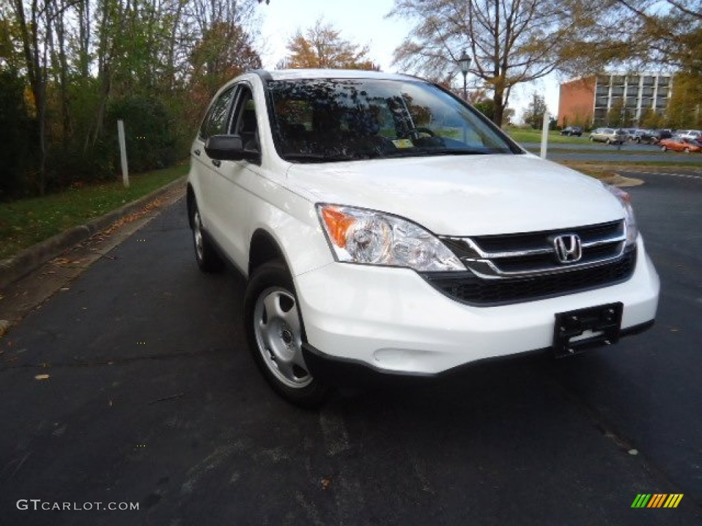 2010 CR-V LX AWD - Taffeta White / Ivory photo #1