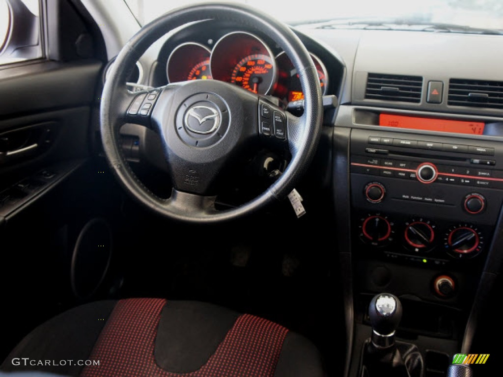 2006 mazda mazda3 s touring sedan black red dashboard. Black Bedroom Furniture Sets. Home Design Ideas