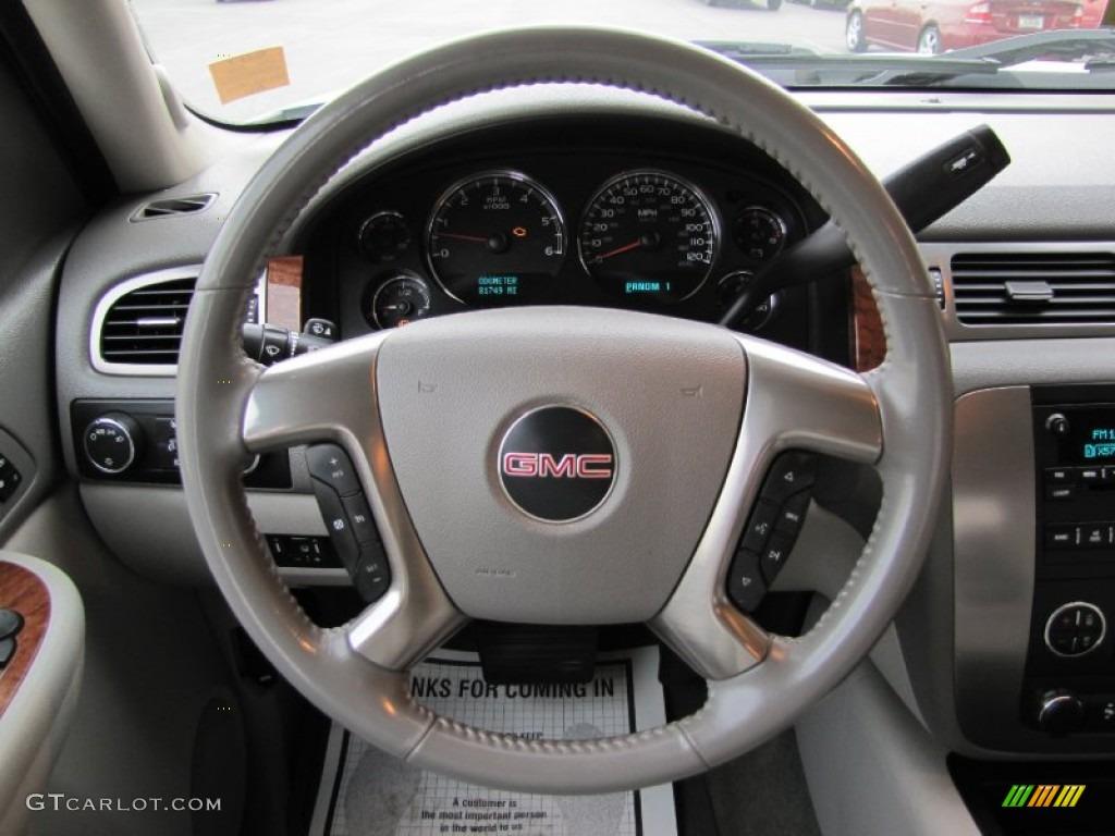 2007 GMC Sierra 2500HD SLT Crew Cab 4x4 Dark Titanium/Light Titanium Steering Wheel Photo #56118986
