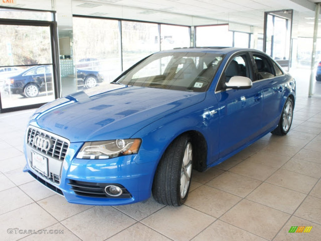 sprint blue pearl 2011 audi s4 3 0 quattro sedan exterior. Black Bedroom Furniture Sets. Home Design Ideas