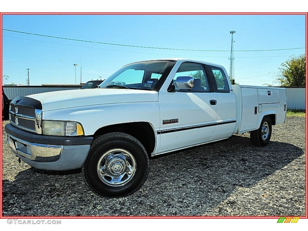 1995 bright white dodge ram 2500 laramie extended cab. Black Bedroom Furniture Sets. Home Design Ideas
