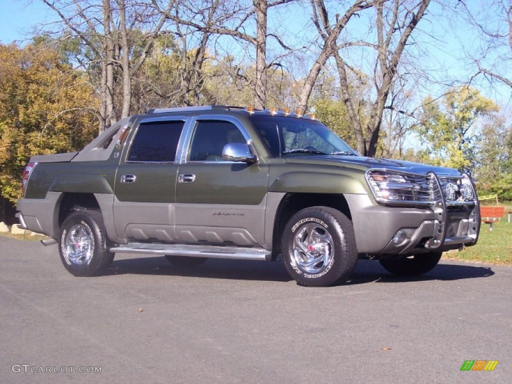 2002 medium sage green metallic chevrolet avalanche the. Black Bedroom Furniture Sets. Home Design Ideas