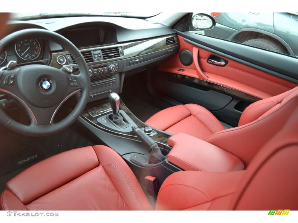 Coral Red Black Dakota Leather Interior 2009 Bmw 3 Series 335i Coupe Photo 56155334