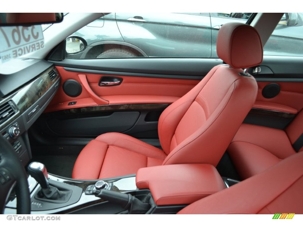 Coral Red Black Dakota Leather Interior 2009 Bmw 3 Series