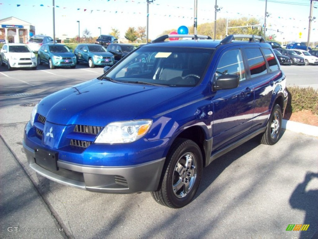 2006 electric blue pearl mitsubishi outlander ls 4wd. Black Bedroom Furniture Sets. Home Design Ideas