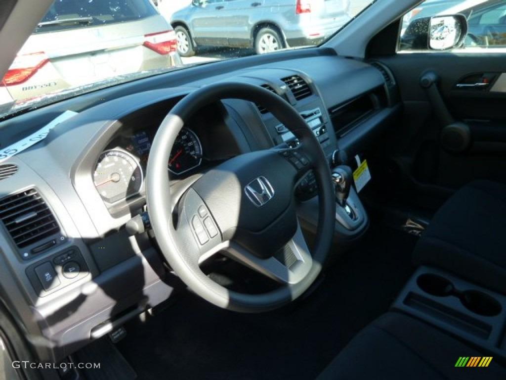 2011 CR-V EX 4WD - Polished Metal Metallic / Black photo #15