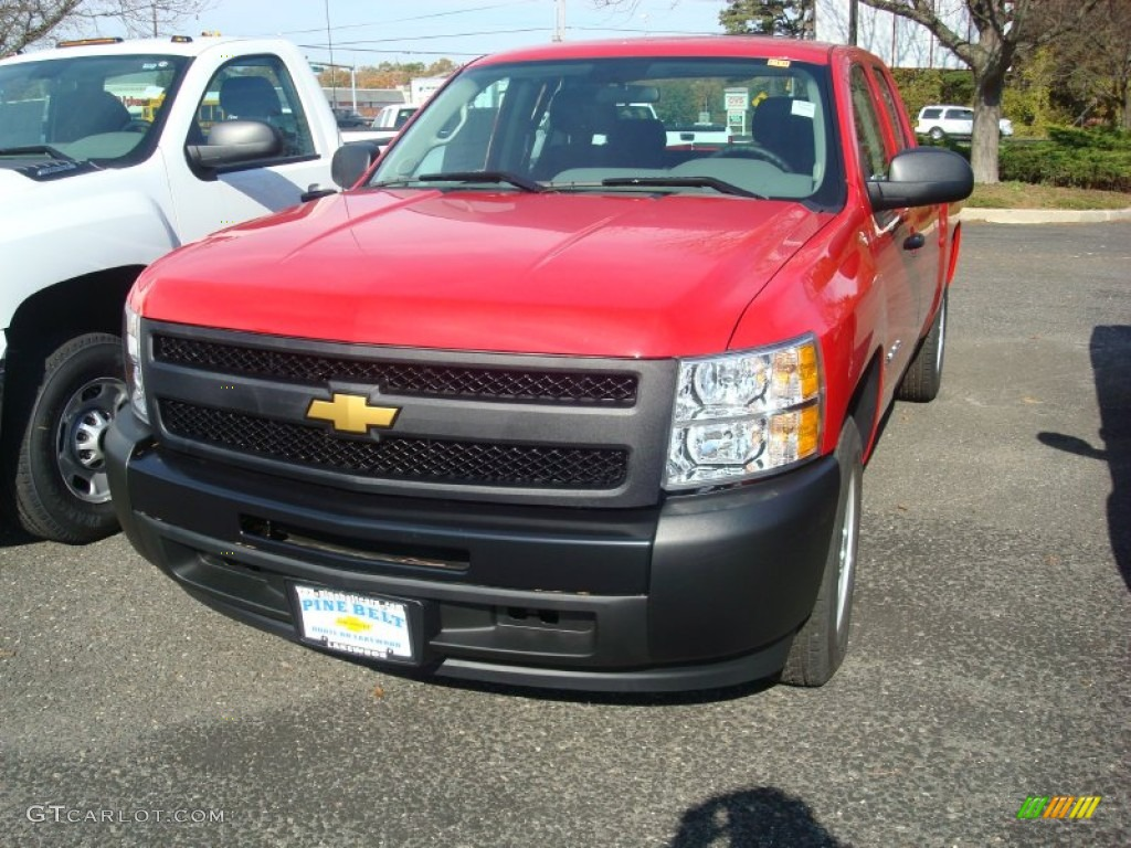 2012 Silverado 1500 Work Truck Extended Cab - Victory Red / Dark Titanium photo #1