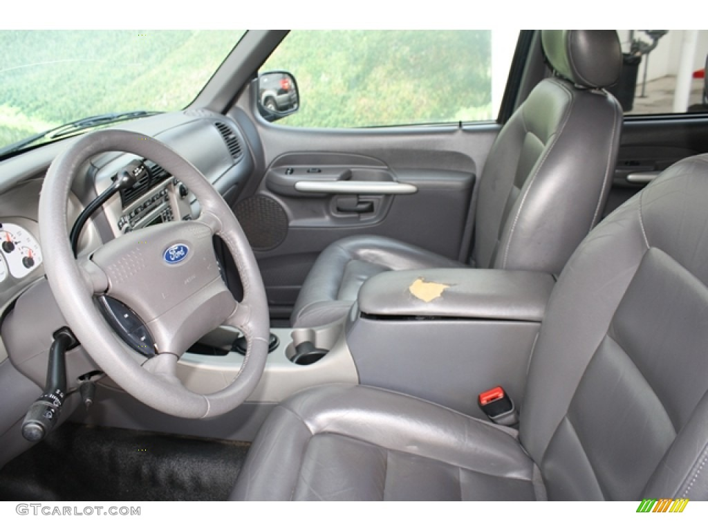 Dark Graphite Interior 2002 Ford Explorer Sport Trac 4x4 Photo 56172500