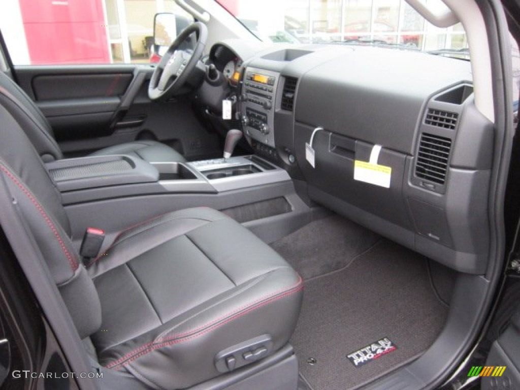 pro 4x charcoal interior 2012 nissan titan pro 4x crew cab. Black Bedroom Furniture Sets. Home Design Ideas
