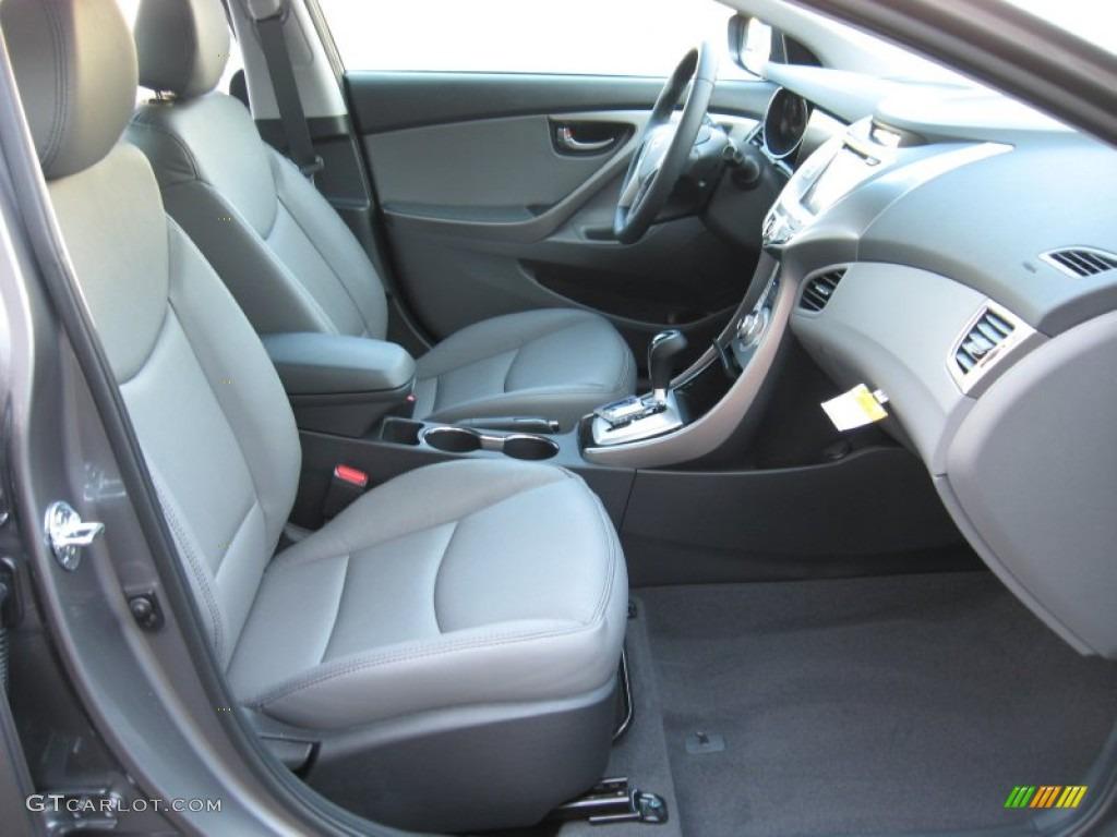 Gray Interior 2012 Hyundai Elantra Limited Photo 56183381 Gtcarlot Com