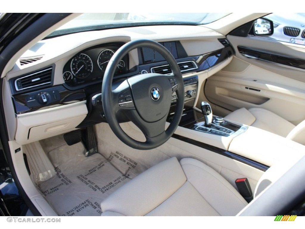 Oyster nappa leather interior 2010 bmw 7 series 750li