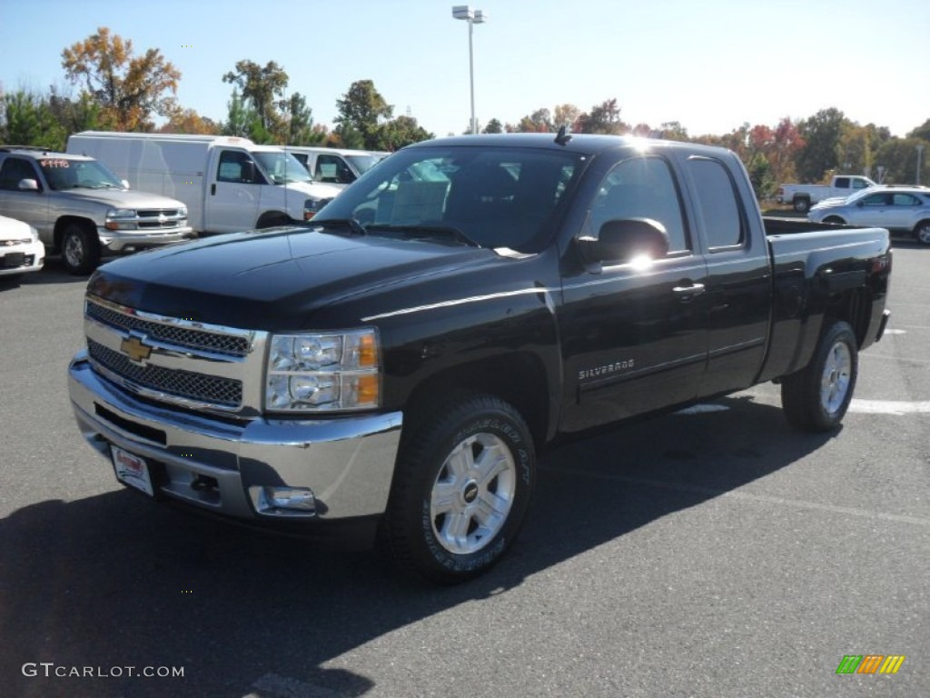 2012 Silverado 1500 LT Extended Cab - Black / Ebony photo #1