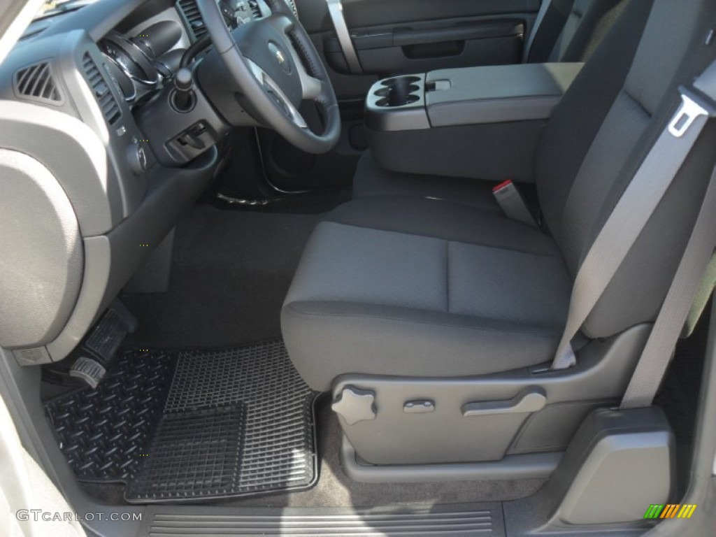 2012 Silverado 1500 LT Extended Cab - Silver Ice Metallic / Ebony photo #7