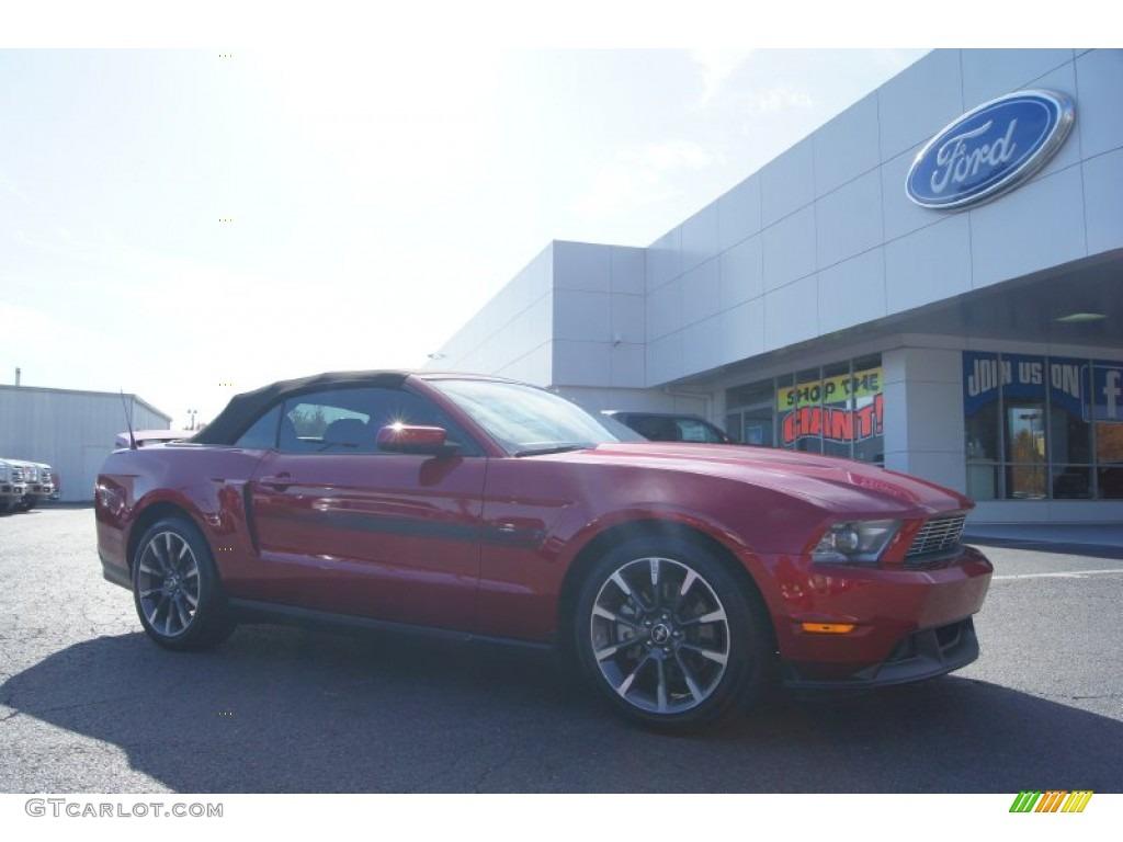 2011 Mustang GT/CS California Special Convertible - Red Candy Metallic / CS Charcoal Black/Carbon photo #1