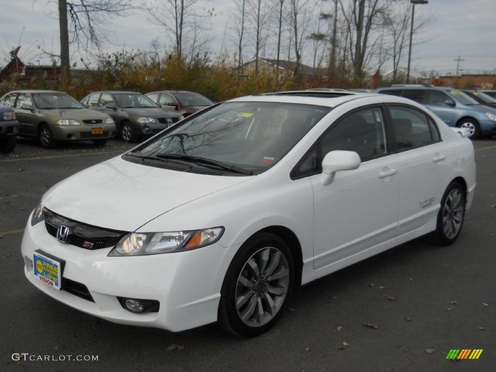 2009 taffeta white honda civic si sedan 56231491 for Honda civic si white