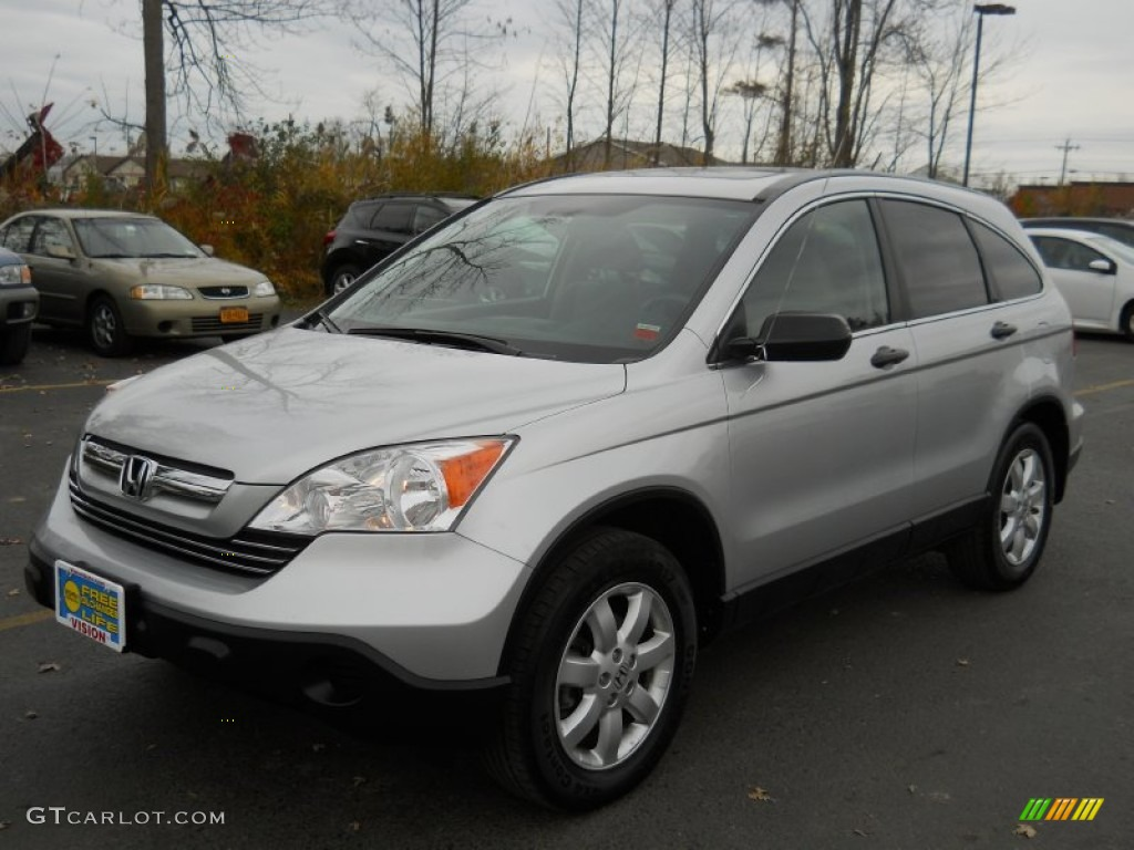 2009 CR-V EX 4WD - Alabaster Silver Metallic / Gray photo #1
