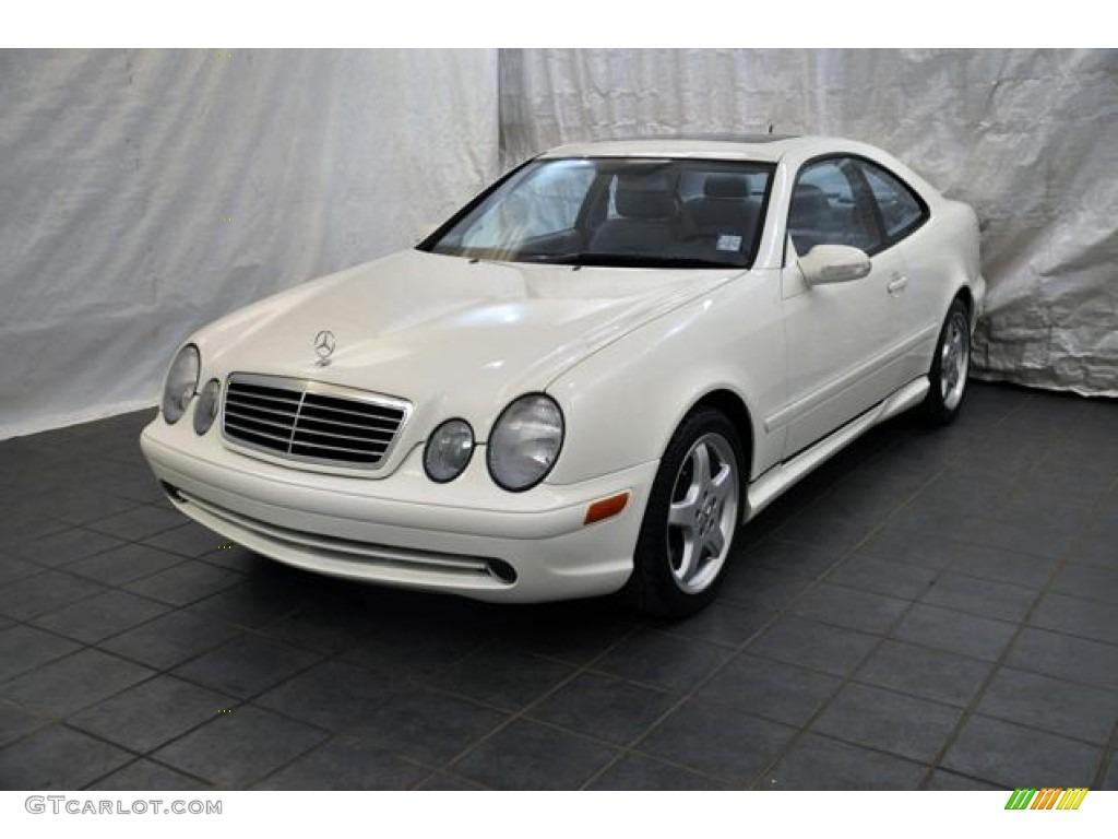 2002 alabaster white mercedes benz clk 430 coupe 56230989 car color galleries. Black Bedroom Furniture Sets. Home Design Ideas