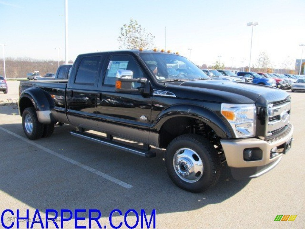 2012 f350 super duty king ranch crew cab 4x4 dually black chaparral leather photo