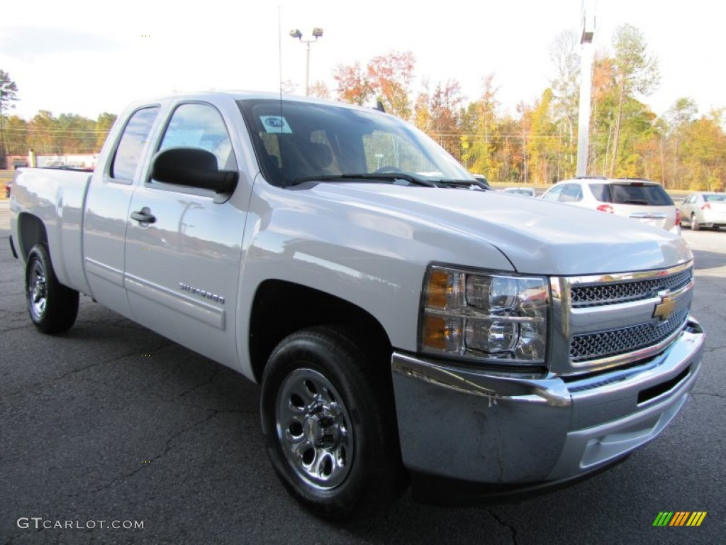2012 Silverado 1500 LS Extended Cab - Summit White / Dark Titanium photo #1