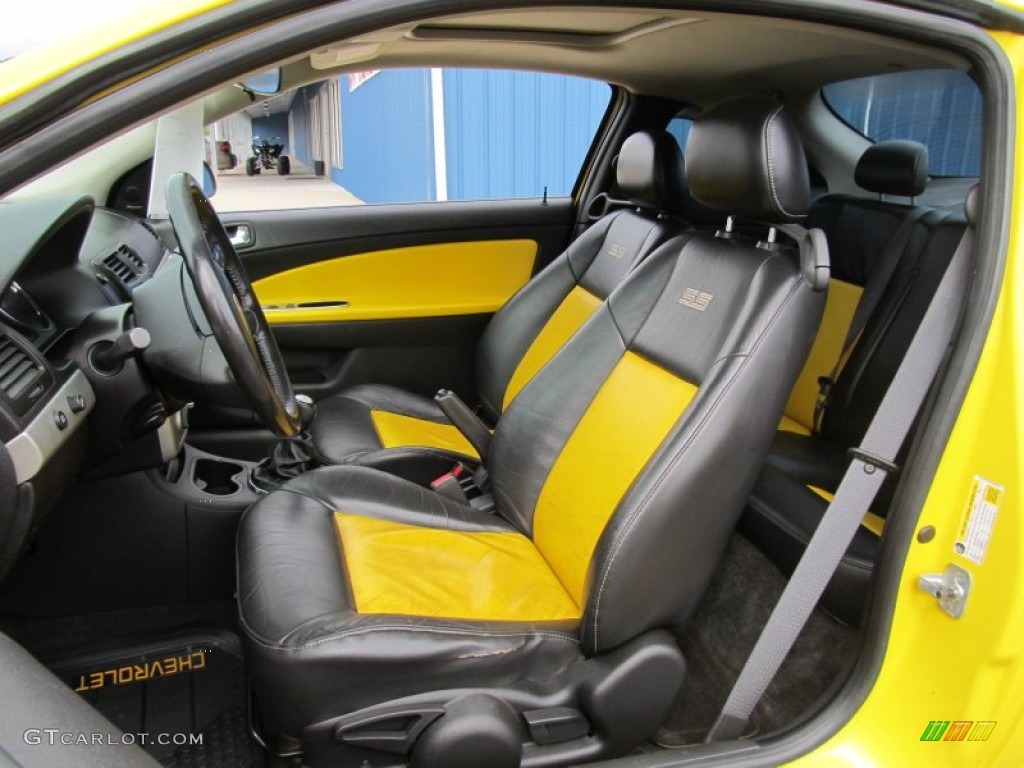 Ebony/Yellow Interior 2006 Chevrolet Cobalt SS Supercharged Coupe Photo  #56294760