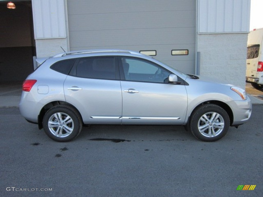 Brilliant Silver 2012 Nissan Rogue Sv Awd Exterior Photo