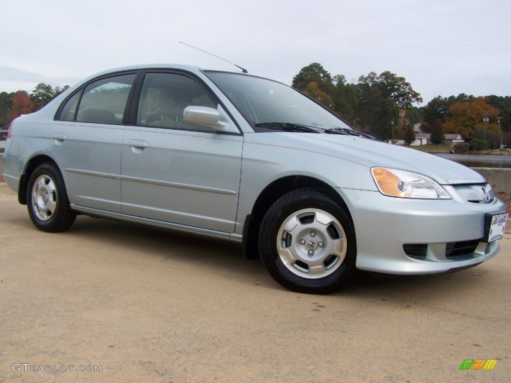 2003 opal silver blue metallic honda civic hybrid sedan. Black Bedroom Furniture Sets. Home Design Ideas