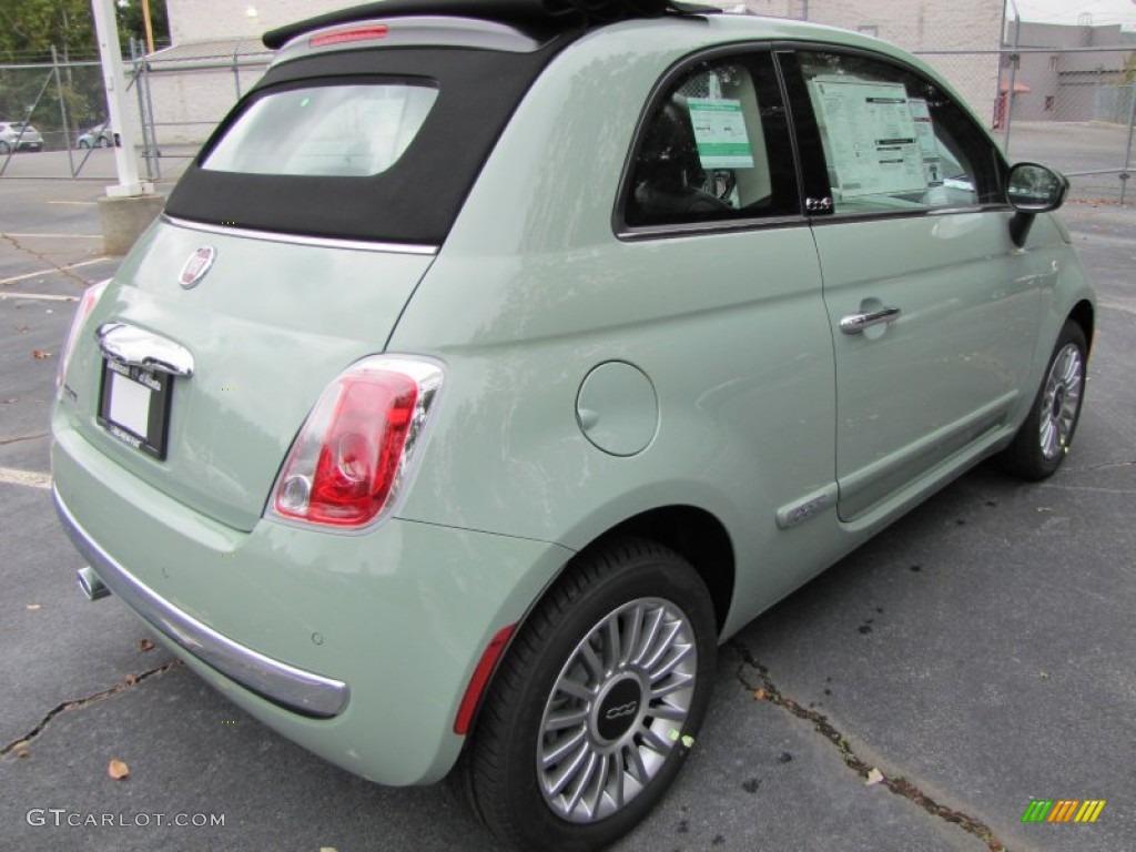 Verde Chiaro Light Green 2012 Fiat 500 C Cabrio Lounge
