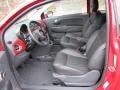 2012 500 c cabrio Lounge Pelle Nera/Nera (Black/Black) Interior