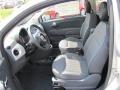 Tessuto Grigio/Nero (Grey/Black) 2012 Fiat 500 Interiors