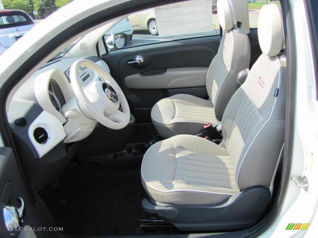 Tessuto avorio nero avorio ivory black ivory interior for Fiat 500 interieur