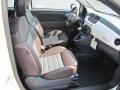 2012 500 Sport Sport Tessuto Marrone/Nero (Brown/Black) Interior
