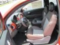 2012 500 Sport Sport Tessuto Marrone/Nero (Brown/Black) Interior