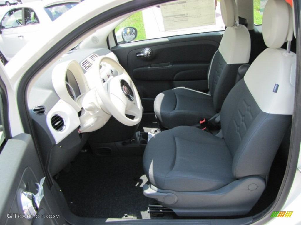 Tessuto Grigio Avorio Grey Ivory Interior 2012 Fiat 500