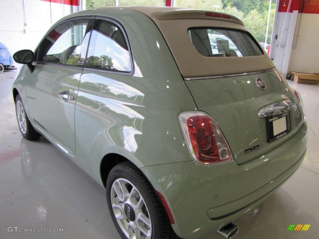 Verde Chiaro Light Green 2012 Fiat 500 C Cabrio Pop