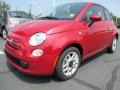 Rosso Brillante (Red) 2012 Fiat 500 Pop Exterior