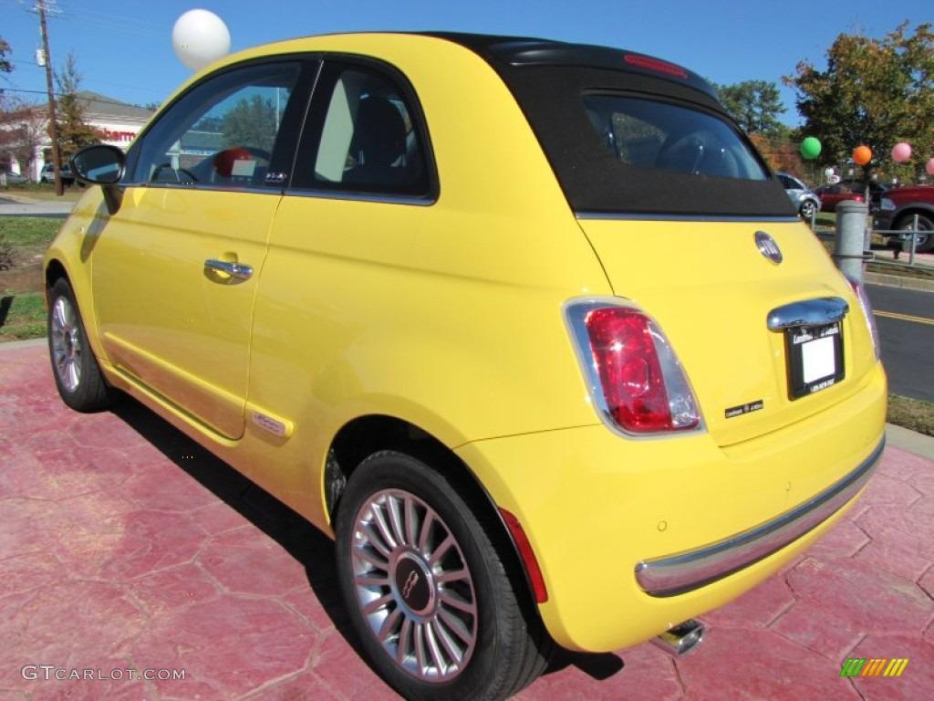 Giallo Yellow 2012 Fiat 500 C Cabrio Lounge Exterior