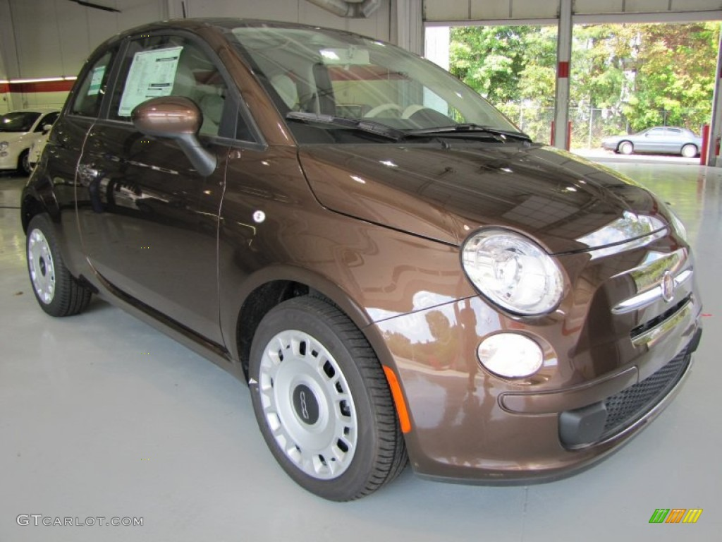 Espresso (Brown) 2012 Fiat 500 Pop Exterior Photo #56328314
