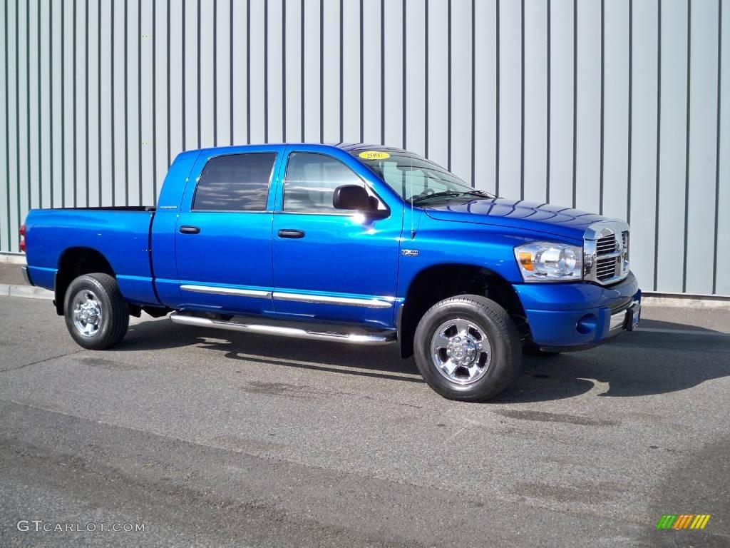 2007 Electric Blue Pearl Dodge Ram 1500 Laramie Mega Cab 4x4 5601803