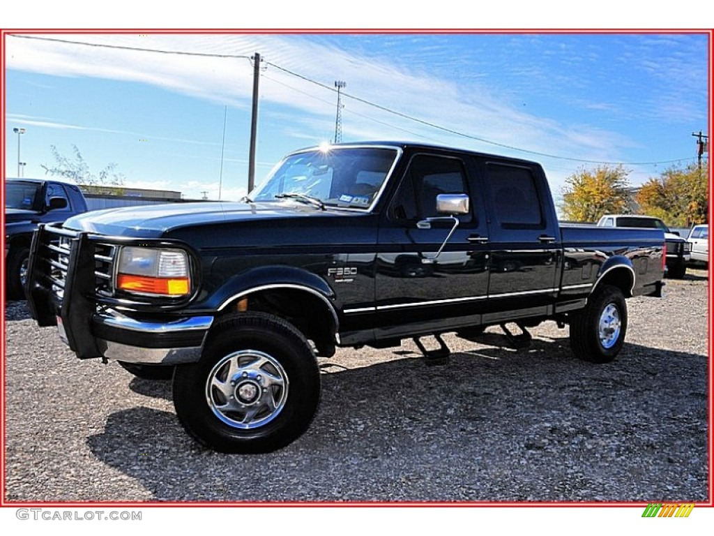 7.3 Powerstroke Specs >> 1996 Dark Tourmaline Green Metallic Ford F250 XLT Crew Cab 4x4 #56275338 Photo #8 | GTCarLot.com ...