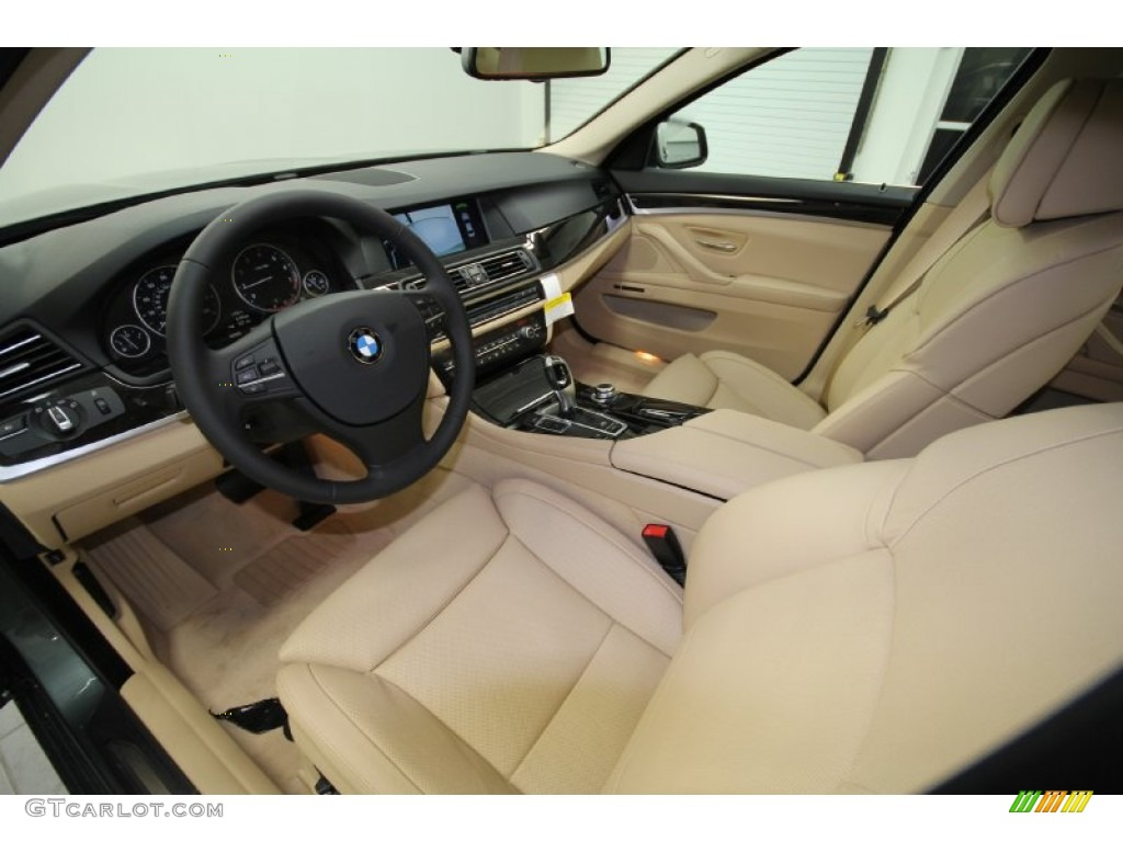 Venetian Beige Interior 2012 BMW 5 Series 528i Sedan Photo 56359462