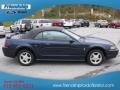 2001 True Blue Metallic Ford Mustang V6 Convertible  photo #5