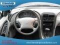 2001 True Blue Metallic Ford Mustang V6 Convertible  photo #21