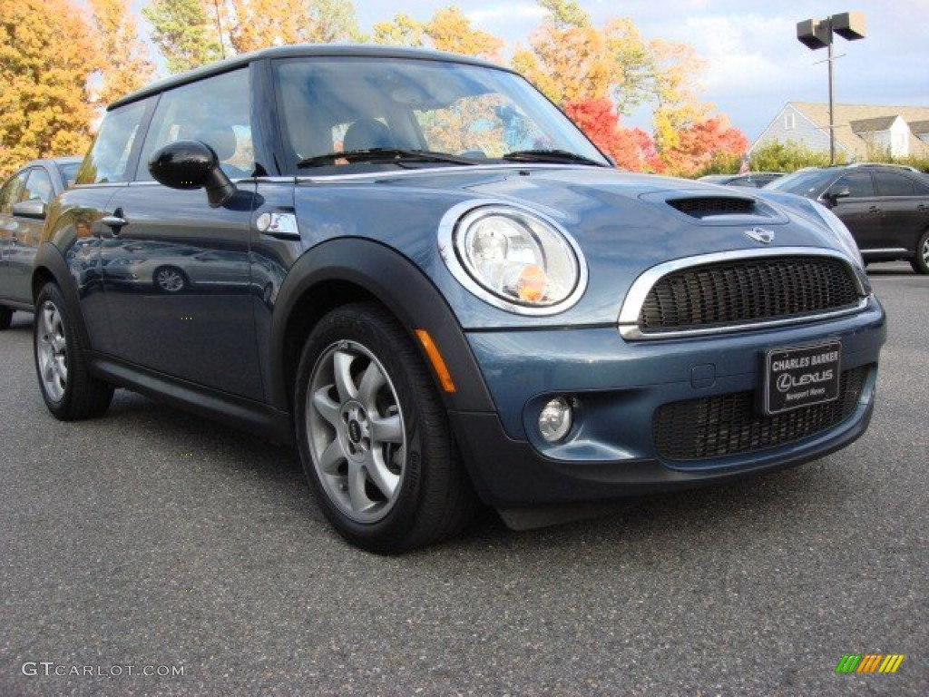 2010 Cooper S Hardtop Horizon Blue Metallic Grey Carbon Black Photo 1