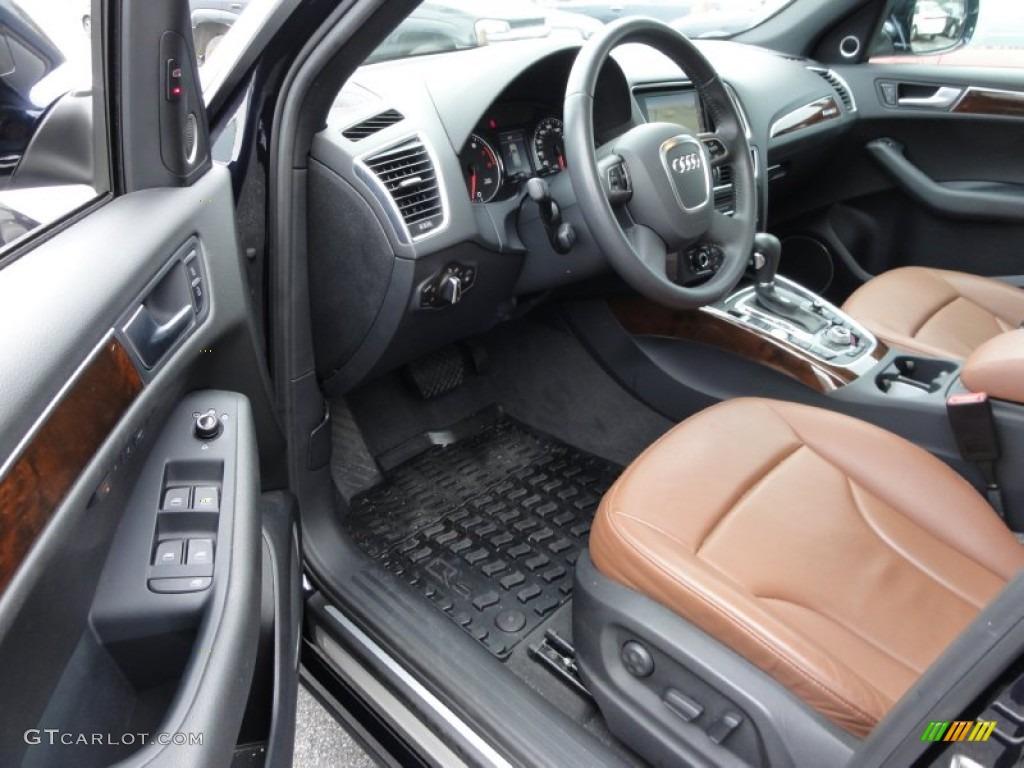 Cinnamon Brown Interior 2010 Audi Q5 3.2 quattro Photo #56382517 | GTCarLot.com