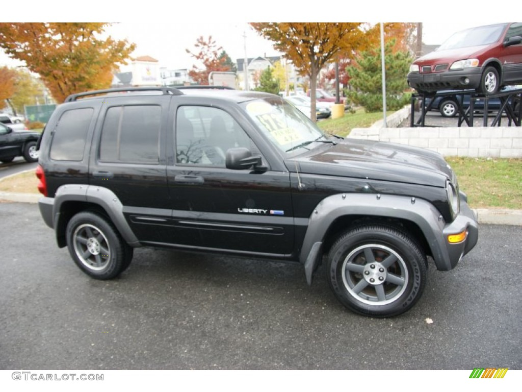 Black Clearcoat 2003 Jeep Liberty Freedom Edition 4x4 Exterior Photo