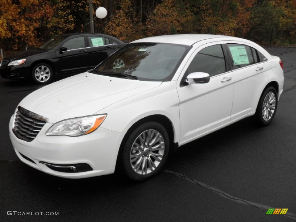 bright white 2012 chrysler 200 limited sedan exterior. Black Bedroom Furniture Sets. Home Design Ideas
