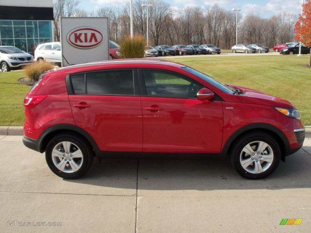 signal red 2012 kia sportage lx awd exterior photo 56388718. Black Bedroom Furniture Sets. Home Design Ideas