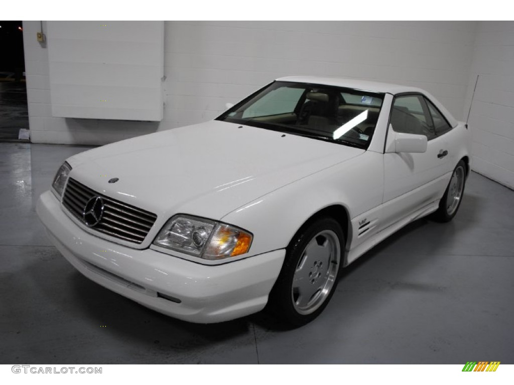 Polar white 1996 mercedes benz sl 600 roadster exterior for Mercedes benz polar white paint